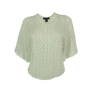 Style & Co. Women's Lace Batwing Sleeve Top - ps
