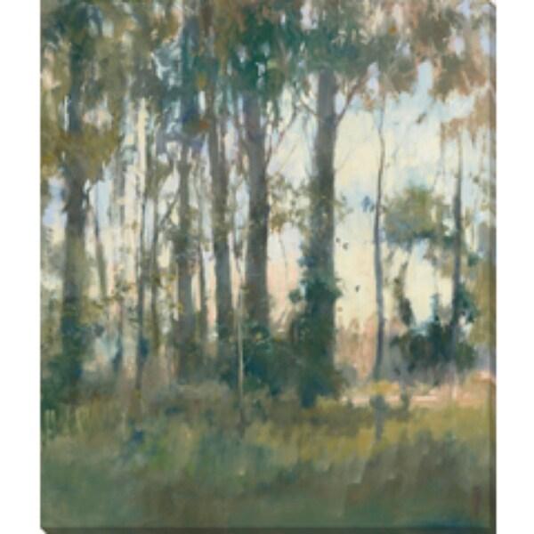 "Pale Green and Green Rectangular Canvas Wall Art Decor 15"" x 18"" - N/A"