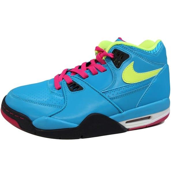 9856e388 Nike Men's Air Flight 89 Dynamic Blue/Volt-Fireberry-Black London 306252-400