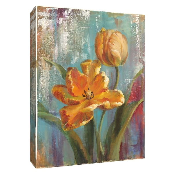 "PTM Images 9-154691 PTM Canvas Collection 10"" x 8"" - ""Parrot Tulips I"" Giclee Tulips Art Print on Canvas"