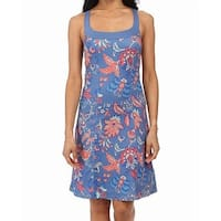 The North Face Blue Womens Size XS Floral Cypress Sheath Dress