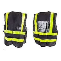 Sunlite Reflective Delivery Cycling Safety Vest - black/yellow