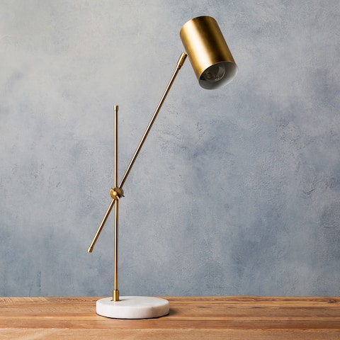 "Cerrin 24 in. Gold Modern Table Lamp - 24"" H"