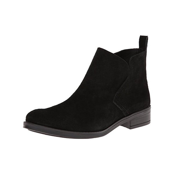 Lucky Brand Womens Nightt Ankle Boots Suede Round Toe