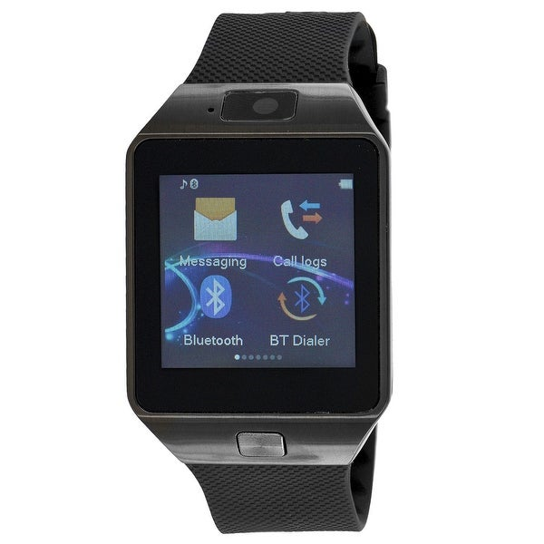 Smart Watch Bluetooth + Camera For Android IOS Phones All Black