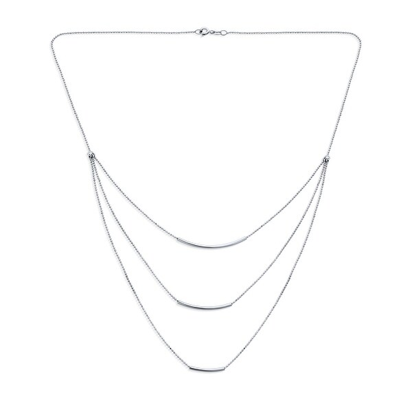 Three curved lines necklace
