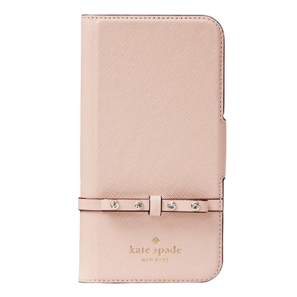 new arrival 81e4f 88cad Kate Spade New York Jeweled Bow Leather Wrap Folio iPhone X / iPhone Xs  Case, Pink