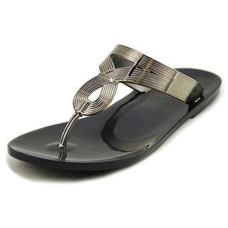Fergalicious Gauty Women Open Toe Synthetic Silver Thong Sandal