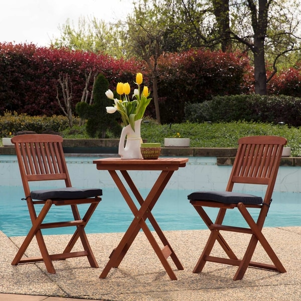 Sunward Outdoor Bistro Sets / Patio Table Sets / Bistro Set 3 Piece /  Folding Coffee