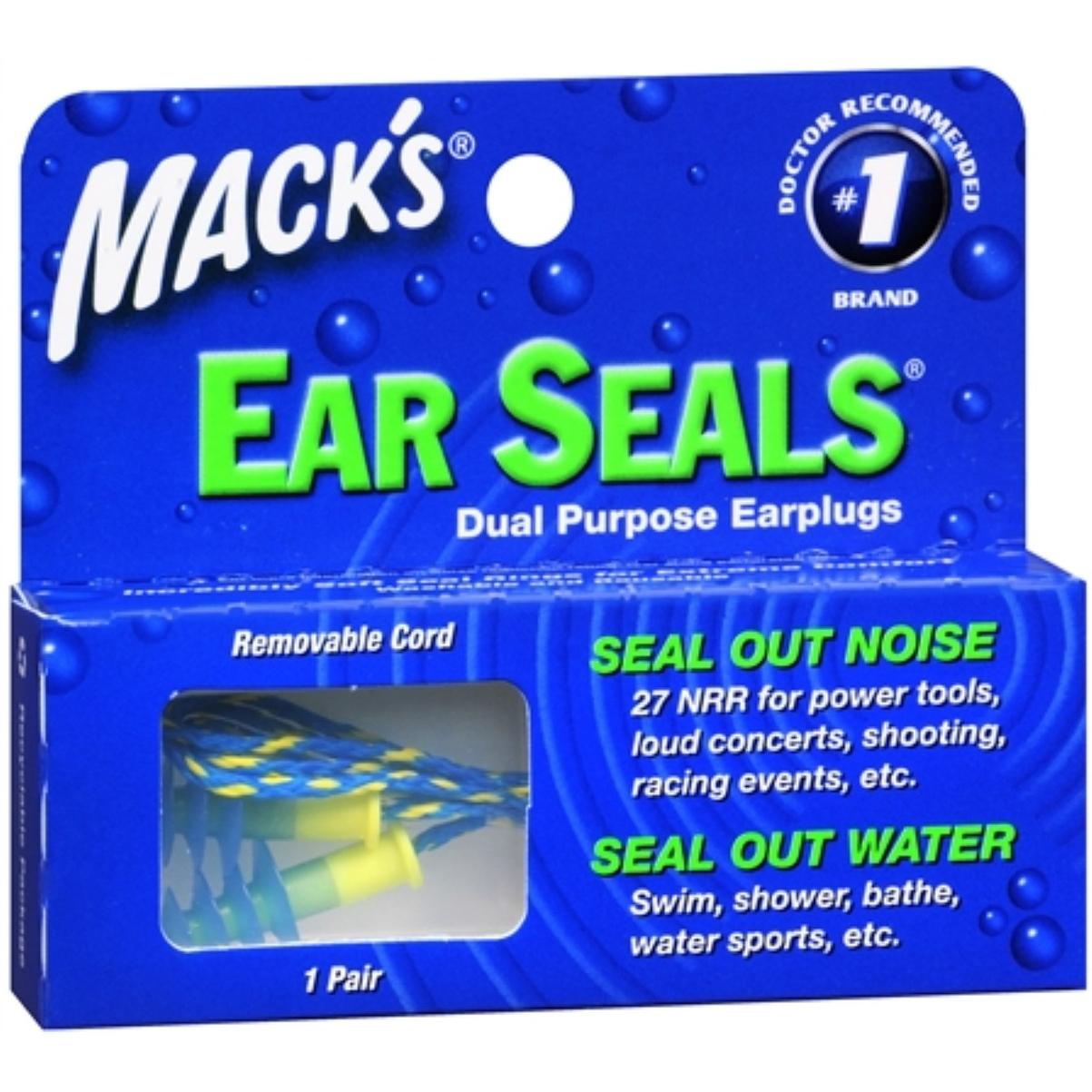 Mack's Ear Seals Dual Purpose Earplugs 1 Pair (4 options available)