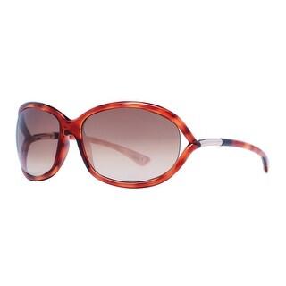 Tom Ford Jennifer TF008 52F Havana Brown Gradient Soft Square Sunglasses - brown havana - 61mm-16mm-120mm