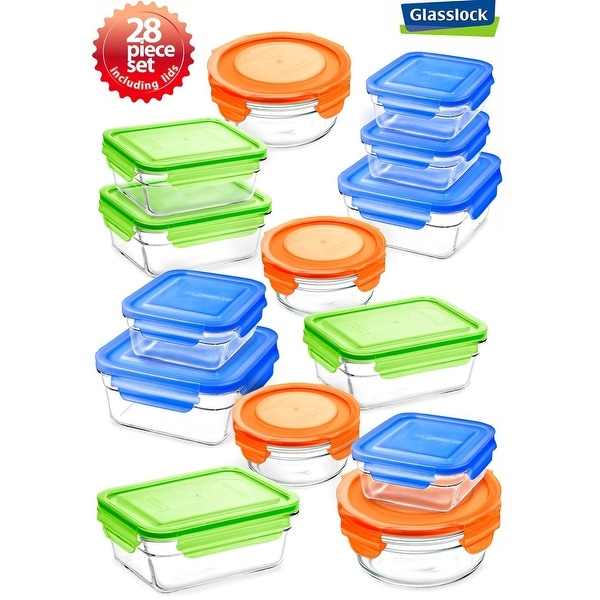 Shop Glasslock 28 Piece Food Container Storage Set Free Shipping