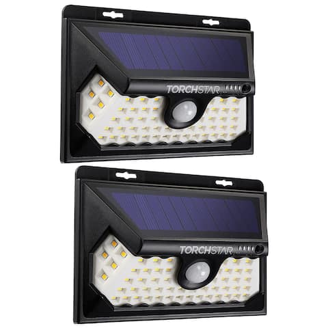 2 Pack 58 LED Solar Motion Security Light, 4 Modes, 3000K