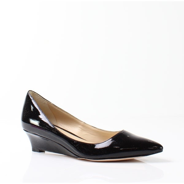 Cole Haan NEW Black Women's Shoes Size 7N Bradshaw Patent Wedge