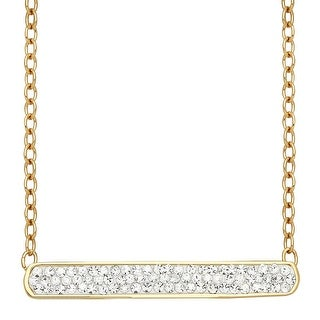 Crystaluxe Bar Necklace with Swarovski Crystals in 18K Gold-Plated Sterling Silver