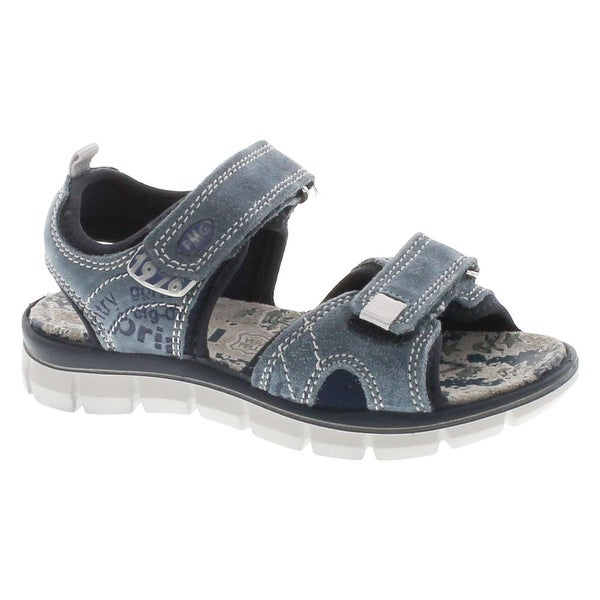 Primigi Boys 13964 Leather European Adjustable Straps Fashion Sandals - Blue