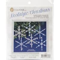 Nostalgic Christmas Beaded Crystal Ornament Kit-Blue Snowflakes