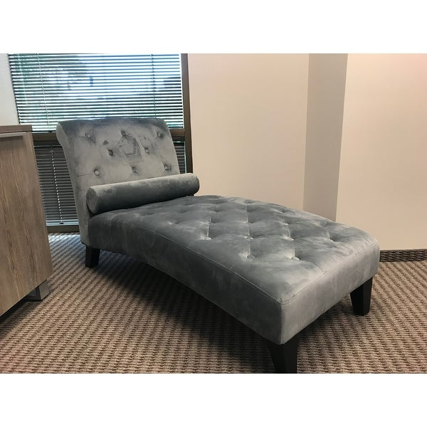 Shop Belleze Living Room Or Home Office Button Tufted Leisure Chair Rest  Sofa Chaise Lounge Couch For Indoor Furniture, Gray   Free Shipping Today  ...