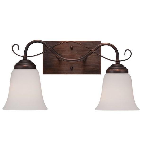 Millennium Lighting 3022 Kingsport 2-Light Bathroom Vanity Light - Rubbed bronze