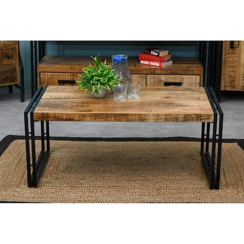 Expedition Solid Wood & Metal Coffee Table