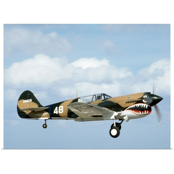 """""""Antique military fighter plane"""" Poster Print"""
