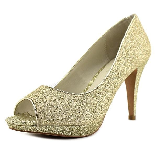 Aldo Cirlano Women Peep-Toe Leather Gold Heels