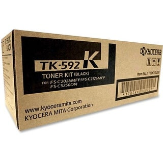 Kyocera TK592K Kyocera TK-592K Toner Cartridge - Black - Laser - 7000 Page - 1 / Pack