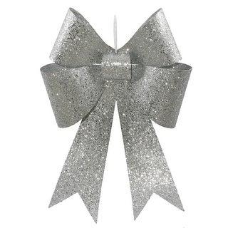18'' Silver Sequin Bow 2/Bag