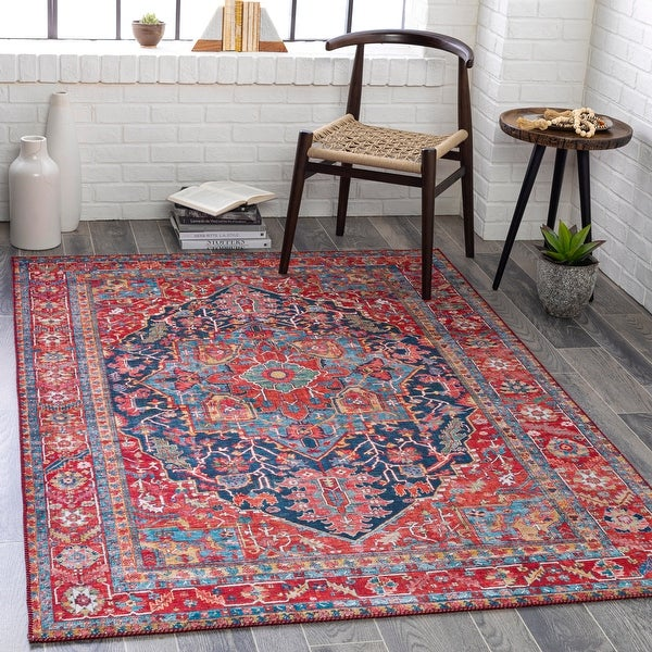 Taran Traditional Medallion Printed Area Rug. Opens flyout.