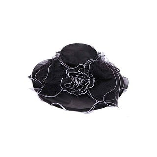 Womens Bucket Sun Hat w/ Floral Veil Bow