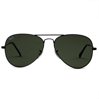 Ray-Ban Aviator Classic Sunglasses 58mm Black Frame