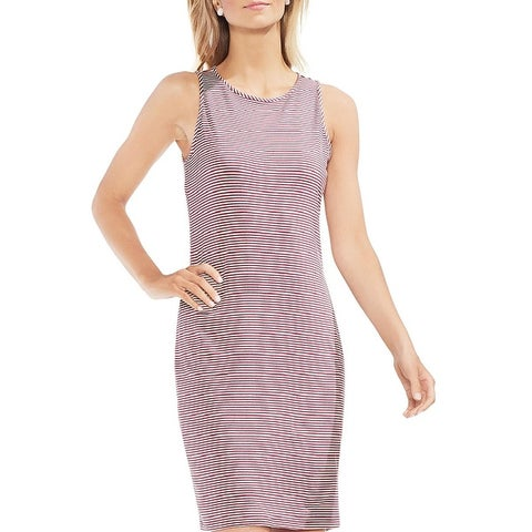 Vince Camuto Womens Chantelle Casual Dress Pinstripe Knee-Length