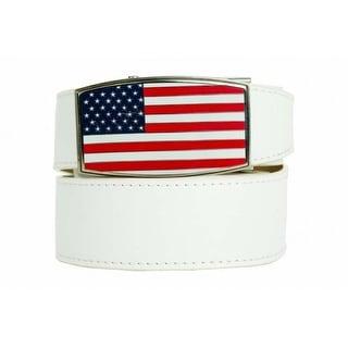 Nexbelt Heritage USA Aston White 45 Ratchet Golf Belt