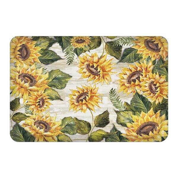 Sunflowers On Shiplap Kitchen Mat 20x30 Overstock 32066505