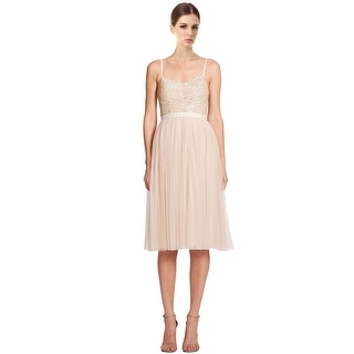 Needle & ThreadCoppelia Ballet Embellished Tulle Sleeveless Cocktail Dress - 10
