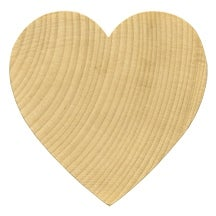 "1000 Pcs of 3"" x 1/4"" Hard Wood Heart Shapes / Cut Outs ready to paint and decorate"