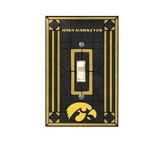 Iowa Hawkeyes Art Glass Light Switch Cover