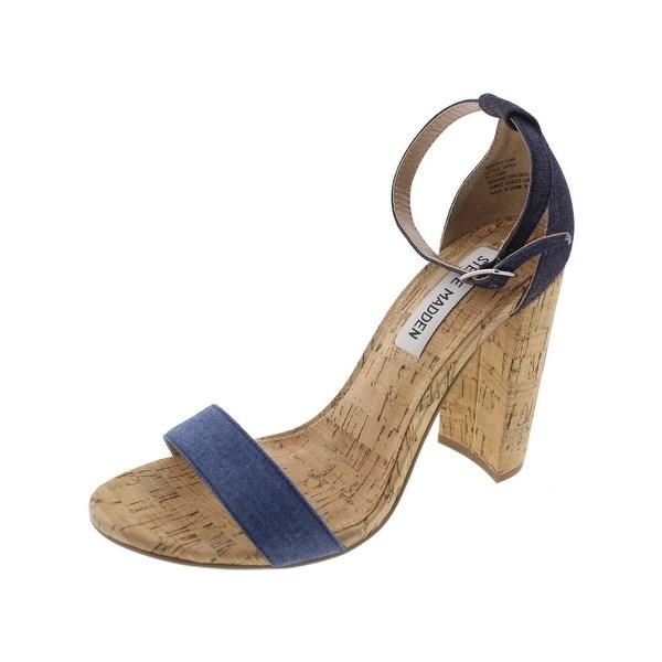 Steve Madden Womens Carson C Dress Sandals Colorblock Cork