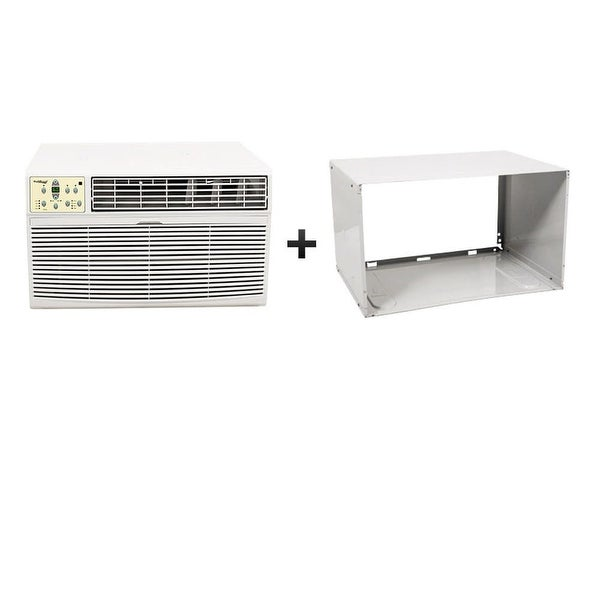 Koldfront WTC8001WSLV 8000 BTU 115V Through the Wall Air Conditioner with 4200 BTU Heater with Remote and Sleeve - White