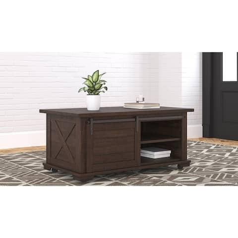 Camiburg Casual Rectangular Cocktail Table, Dark Brown