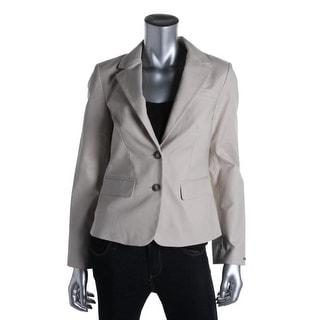 Tommy Hilfiger Womens Twill Notch Collar Two-Button Blazer