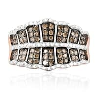 Fabulous 0.50ct Round Brilliant Cut Natural Brown Color Diamond Fancy Ring