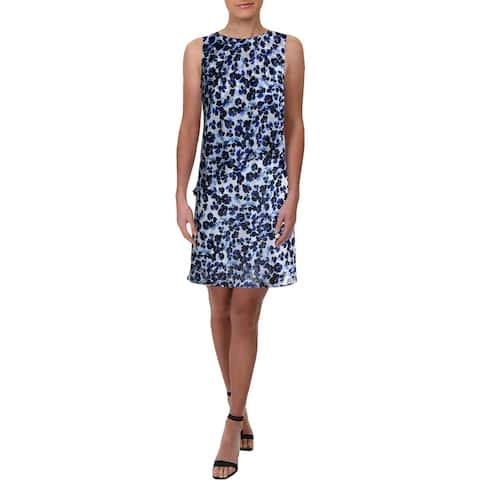 Lauren Ralph Lauren Womens Lonia Casual Dress Sleeveless Ruffled - White Mu