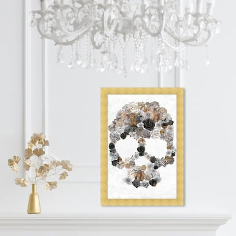 Oliver Gal 'Sticks and Stones' Floral and Botanical Framed Wall Art Prints Florals - Gray, Gray