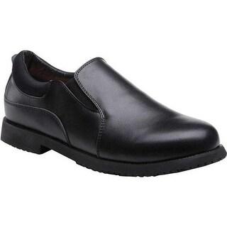 Mt. Emey Men's 2011 Slip-On Work Shoe Black Leather