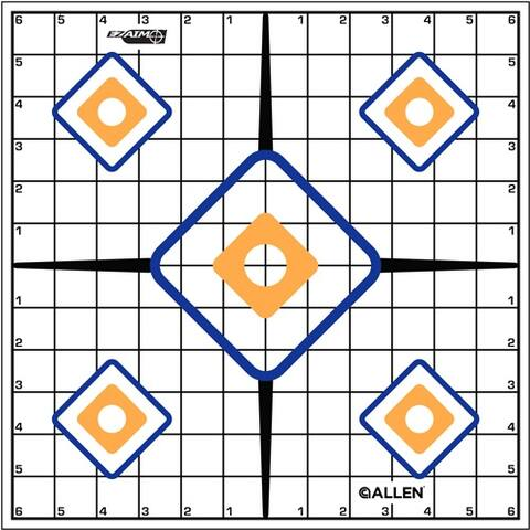 Allen 15203 allen ez aim sight grid trgt 12-pk 12x12