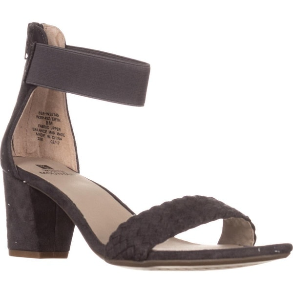 White Mountain Eryn Ankle Strap Sandals, Grey