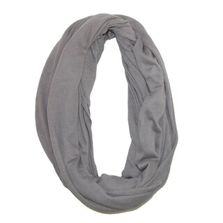 CTM® Women's Solid Infinity Loop Scarf with Hidden Zipper Pocket - One size
