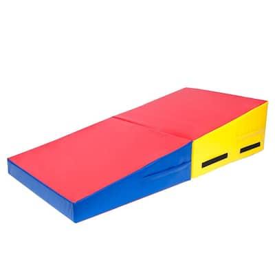 "60"" x 30"" x 14"" / 48"" x 24"" x 14"" Gymnastics Cheese Mat, Folding Incline Mat Tumbling Wedge Skill Shape"