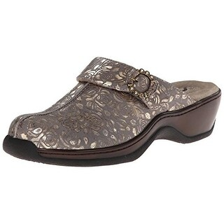 SoftWalk Womens Atwater Metallic Leather Mules - 6.5 wide (c,d,w)